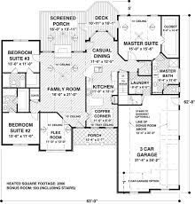 House Plan   Order Code WEB at FamilyHomePlans comCraftsman European Ranch House Plan Level One
