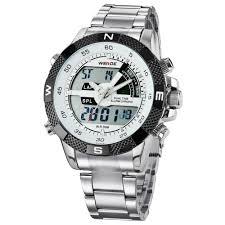 <b>WEIDE Men Sports</b> Fashion Quartz LED <b>Army Military</b> Wrist Watch ...