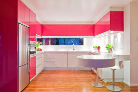 modular kitchen colors: daring and bold modern kitchen cabinet idea