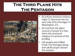 「A third plane hits the Pentagon」の画像検索結果