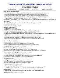 example of qualifications in resume printable shopgrat resume sample method job qualifications resume resume ideas 203735