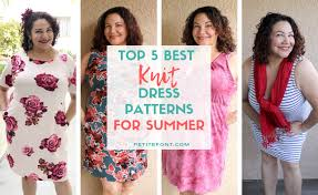 <b>2019</b> Best <b>Summer Dress</b> Patterns for Knit Fabric - Petite Font