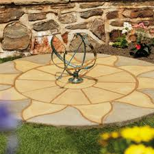 patio slab sets: deco pak sunshine circle m patio paving kit