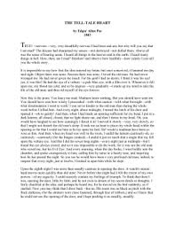 THE TELL TALE HEART Edgar Allan Poe studylib net