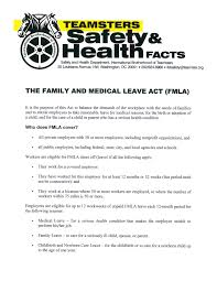 teamsters local  know your rights when it comes to family or medical leave