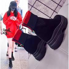 <b>SWYIVY Sock Boots</b> Platform Autumn 2019 <b>Female</b> Fashion Ankle ...