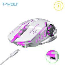 <b>T</b>-<b>WOLF Q13</b> Rechargeable Wireless <b>Mouse</b> Silent Ergonomic ...