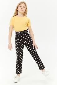 <b>Girls Polka</b> Dot Paperbag-Waist Pants (Kids) | Kids styling at F21 in ...