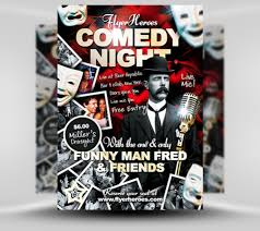 30 eye catching psd flyer templates creativecrunk comedy flyer template