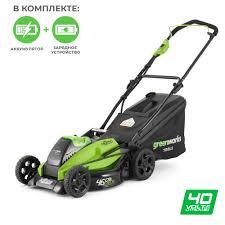 <b>Газонокосилка аккумуляторная Greenworks</b> GD40LM45K3 <b>40V</b> 45 ...