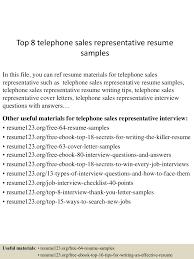 toptelephone srepresentativeresumesamples lva app thumbnail jpg cb