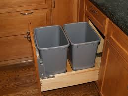 trash cans default: stainless steel kitchen trash can pull out trash can and recycling bin