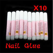 <b>10Pcs</b> /Set Mini Beauty <b>Nail Glue</b> False Art Decorate Tips Acrylic ...