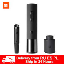 Electric Corkscrew Xiaomi <b>Huohou Wine Electric Bottle</b> Opener Low ...