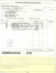1964 crown purchase slip and dealer invoice