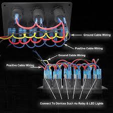 rocker panel wiring diagram rocker image wiring 6 gang rocker switch panel circuit breakers waterproof voltmeter on rocker panel wiring diagram