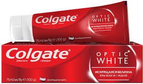 "Colgate <b>Зубная паста</b> ""Optic <b>White</b>"", отбеливающая, 75 мл ..."
