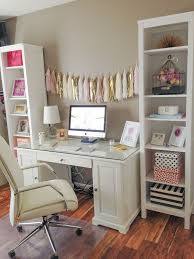 bright clean white organized office workspace i love the pops of bedroom organizing home office ideas