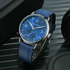 T-<b>WINNER Men Business Watches</b> Mechanical PU Leather Strap ...