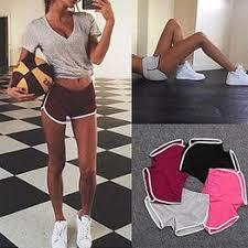 Liva Girl 2019 Summer Road Shorts Women Elastic Waist ... - Vova