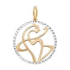 Золотая <b>подвеска</b> «<b>Кошка</b>» с алмазной гранью <b>SOKOLOV</b> | www ...