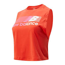 New Balance <b>Relentless Crop Novelty Tank</b>, Neo Flame, Small ...