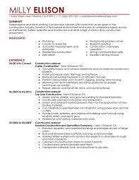 unforgettable construction labor resume examples to stand out    construction labor resume sample