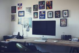 awesome wall frame idea and cool computer desks plus task lamp for inspiring home office ideas awesome office workspace inspirational home office designs