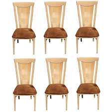 set of 6 italian mid century art deco style dining chairs circa 1970s art deco mid century dining
