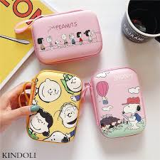 Snoopy <b>Earphone USB Cable Storage</b> Zipper Bag Portable Wallet ...