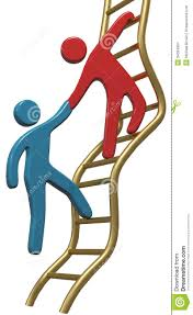 cartoon success clipart clipart kid person helping friend or partner join to climb up the golden ladder of