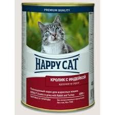<b>Консервы Happy Cat</b> с кроликом и индейкой для взрослых кошек ...