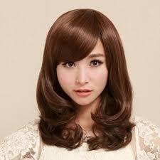 <b>Women Fashion</b> Medium Long <b>Curly Wavy</b> Hair Pear Head Full ...