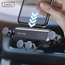 INIU <b>Gravity Car Holder For</b> Phone in Car Air Vent Clip Mount No ...