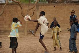 u s department of defense photo essay children at an orphanage play a soccer ball donated by u s troops in ouagadougou