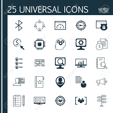 set of universal icons on personal skills bluetooth symbol set of 25 universal icons on personal skills bluetooth symbol job applicants and more