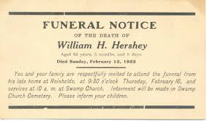 a land of deepest shade death memorabilia part 4 funeral notices counties of texas in the late 1980s by that time they had evolved into photocopies on standard 8 ½ by 11 paper below are two examples of funeral