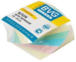 Блок бумаги 9*9*4,5см BVG Блок цветной <b>премиум</b>, витой ...
