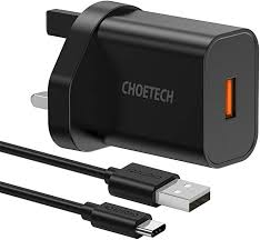 <b>CHOETECH Quick Charge</b> 3.0 Wall Charger, 18W USB C Wall ...