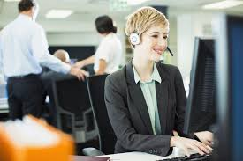 sample career change cover letter businessw talking on headset in office