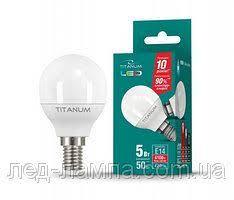 <b>Светодиодная</b> лампа TITANUM (VIDEX), 5W, шарик,G45, 4100К ...