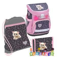 Купить школьный ранец <b>belmil mini</b>-fit i love cats + мешок + пенал ...
