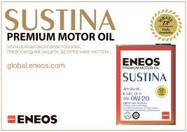 <b>Моторные масла премиум</b>-класса <b>ENEOS</b> SUSTINA