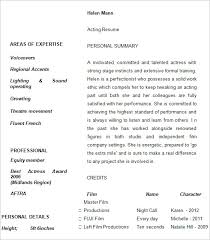 acting resume templates – free samples  examples   amp  formats    acting resume template example