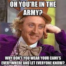Lol.... Don't get mad, Army friends. All in good humor but this IS ... via Relatably.com