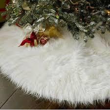 Home, Furniture & DIY White <b>Christmas</b> Tree Skirt Base <b>Faux Fur</b> ...