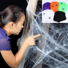 <b>Halloween Spider</b> Web <b>Spiders Party</b> Bar Decoration Stretchy ...
