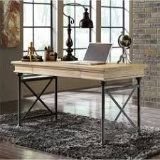 lowest price online on all ashley shennifin home office large leg desk in light brown baybrin rustic brown home office small