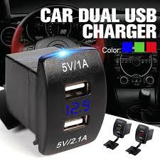 5V 2.1A <b>Motorcycle</b> Car Cigarette Lighter Dual USB Charger Plug ...