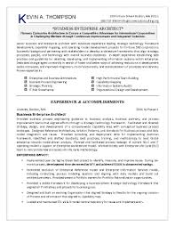Excellent Business Enterprise Architect Resume Template with Work ...